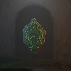 Shadow Isles.jpg Télécharger fichier STL League of Legends - Porte-clés/pendentif des îles de l'ombre • Plan imprimable en 3D, gusmaia