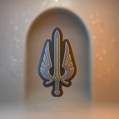 Demacia.jpg Télécharger fichier STL League of Legends - Porte-clés/pendentif Demacia • Objet pour impression 3D, gusmaia
