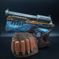diesel_revolver_1.jpg Télécharger fichier STL MDP01 - Revolver Dieselpunk • Plan pour impression 3D, GrayRavenInd
