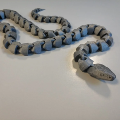 a.PNG Download STL file Articulated snake v2 F.P • 3D printable design, joakin