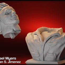 4.jpg Download STL file Michael Myers Bust, Halloween movie character sculpt • 3D printable design, DamianJimenez