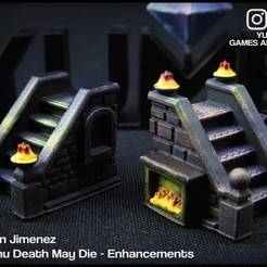 11.jpg Download STL file Stairs for board games or rpg games Cthulhu Death May Die / GloomHaven / dungeons and dragons • 3D printing design, DamianJimenez