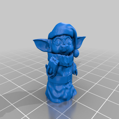 Yoda_Xmas_Statue.png Download STL file Baby Yoda X-mas Outift • Model to 3D print, dmag24