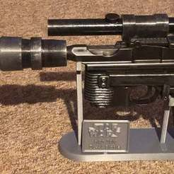 IMG_5861.jpg Download free STL file DL-44 Stand for 1:1 Mauser C96 • 3D printer model, dmag24