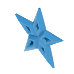 B STAR 1.png Download OBJ file  christmas star tree ornament • Model to 3D print, kraev