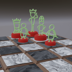Screenshot (234).png Download free STL file Stickman chess • 3D printing template, gigggiguardascione96