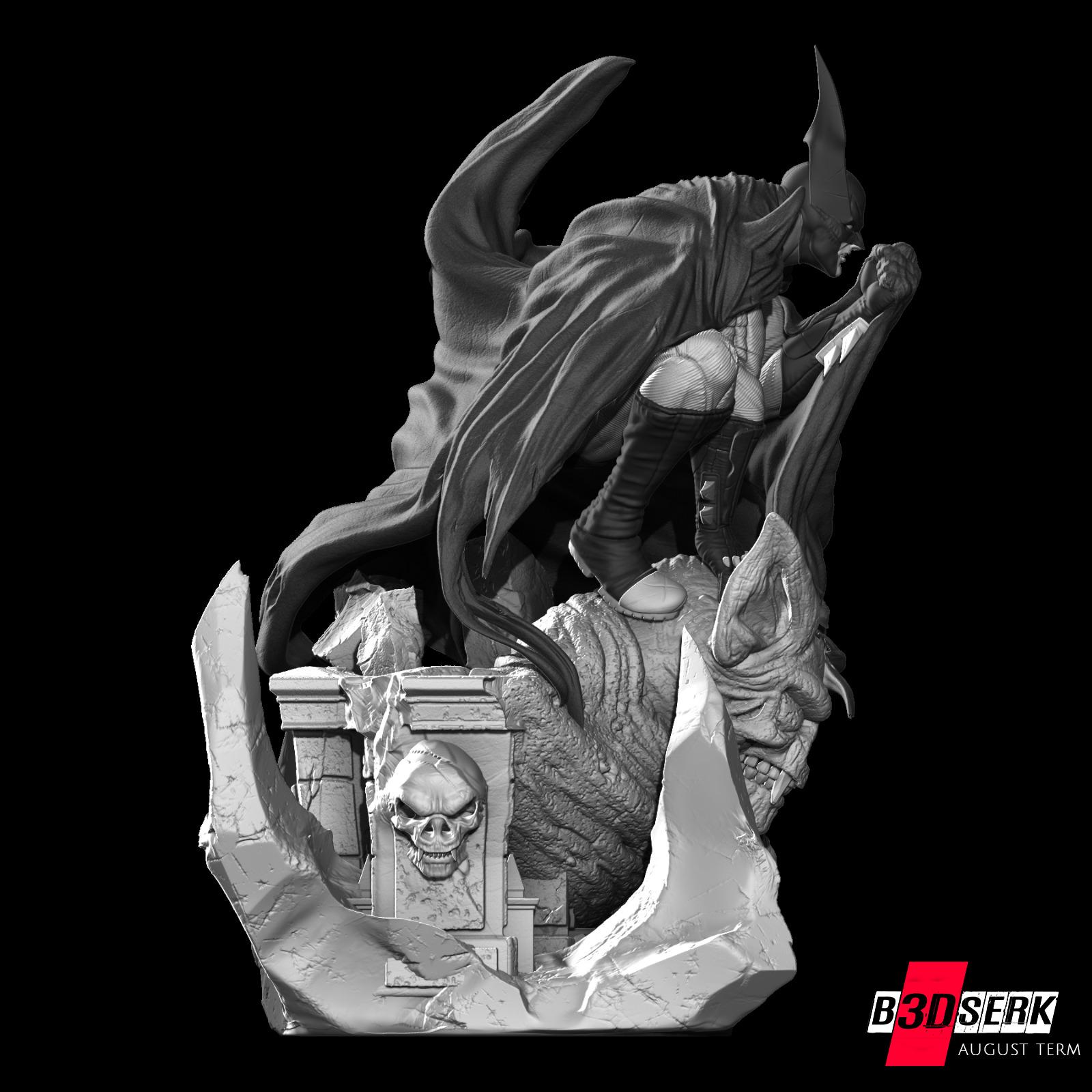 200820 B3DSERK - Batman promo 09.jpg Download free STL file Batman 3d sculpture tested and ready for printing by B3DSERK Studios • 3D printer object, b3dserk