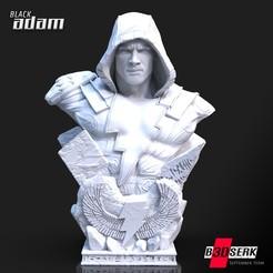 260920 B3DSERK - Black Adam Promo 011.jpg Télécharger fichier STL B3DSERK DC comics Black Adam : Dwayne Johnson 3d Bust testé et prêt à être imprimé • Design imprimable en 3D, b3dserk