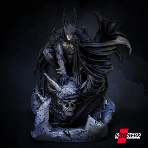 200820 B3DSERK - Batman promo 01.jpg Download free STL file Batman 3d sculpture tested and ready for printing by B3DSERK Studios • 3D printer object, b3dserk