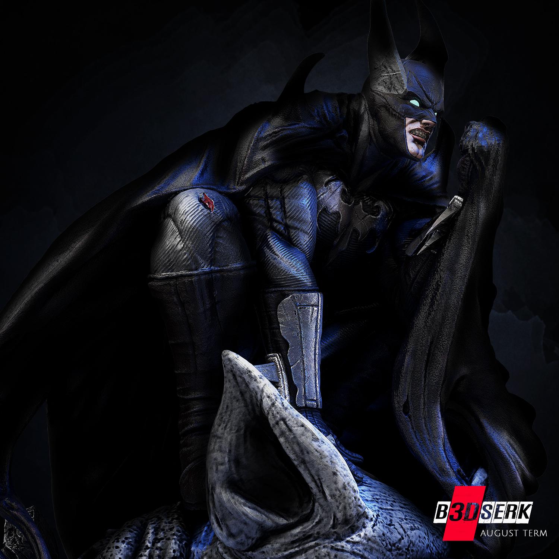 200820 B3DSERK - Batman promo 05.jpg Download free STL file Batman 3d sculpture tested and ready for printing by B3DSERK Studios • 3D printer object, b3dserk