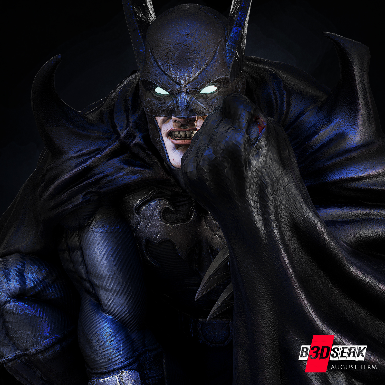 200820 B3DSERK - Batman promo 06.jpg Download free STL file Batman 3d sculpture tested and ready for printing by B3DSERK Studios • 3D printer object, b3dserk
