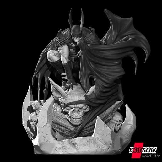 200820 B3DSERK - Batman promo 08.jpg Download free STL file Batman 3d sculpture tested and ready for printing by B3DSERK Studios • 3D printer object, b3dserk