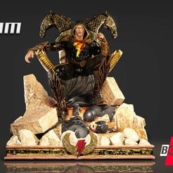 260920 B3DSERK - Black Adam Promo 01.jpg Download STL file B3DSERK DC comics Black Adam: Dwayne Johnson 3d Sculpture tested and ready for printing • Design to 3D print, b3dserk