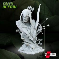 111920 B3DSERK - Green Arrow Bust 01.jpg Télécharger fichier STL B3DSERK DC comics Green Arrow 3d Bust : STL testée et prête à l'impression • Modèle imprimable en 3D, b3dserk