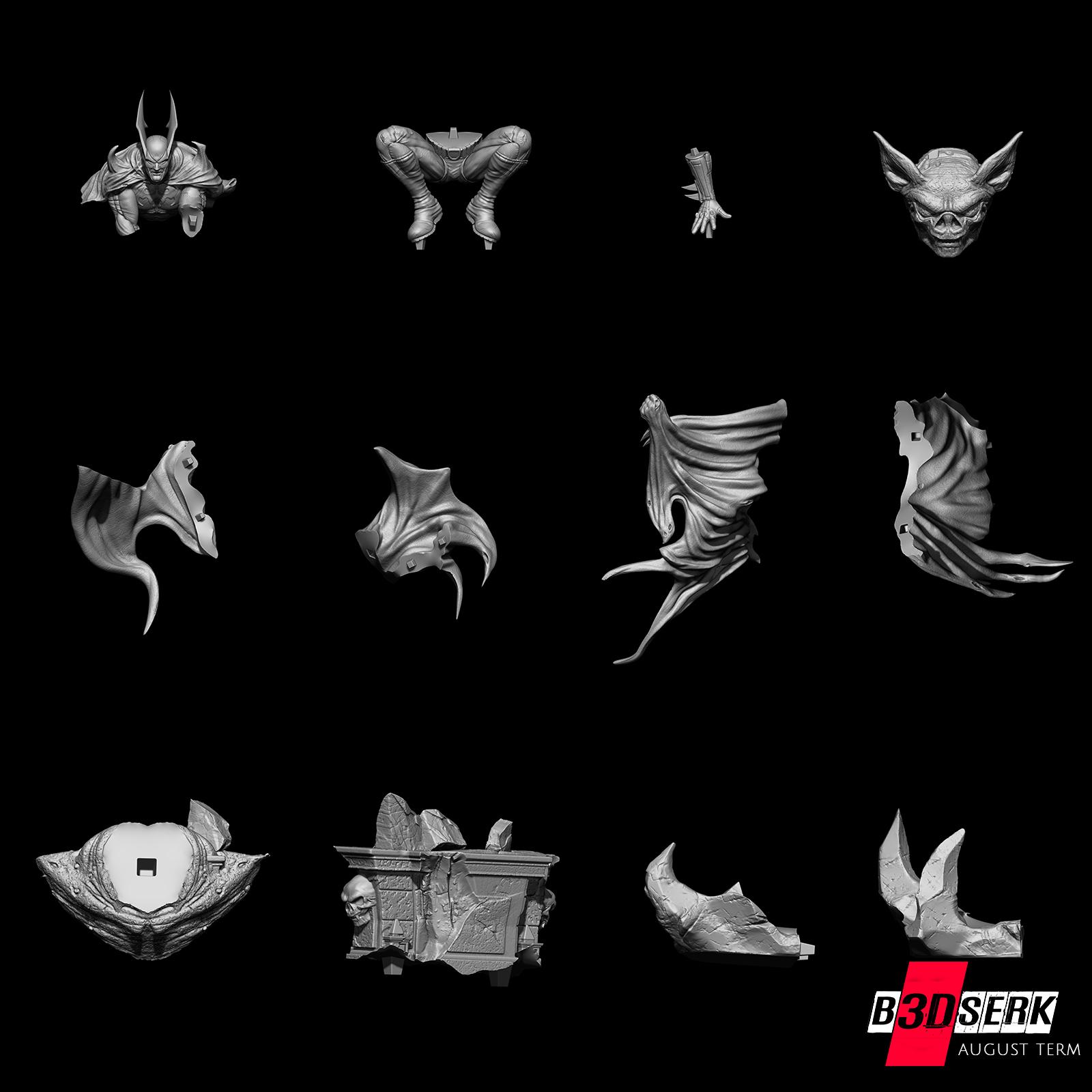 200820 B3DSERK - Batman promo 014.jpg Download free STL file Batman 3d sculpture tested and ready for printing by B3DSERK Studios • 3D printer object, b3dserk