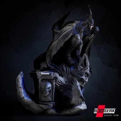 200820 B3DSERK - Batman promo 03.jpg Download free STL file Batman 3d sculpture tested and ready for printing by B3DSERK Studios • 3D printer object, b3dserk