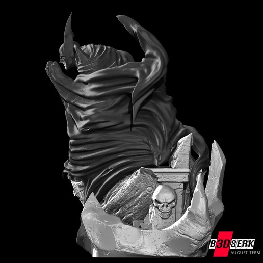 200820 B3DSERK - Batman promo 012.jpg Download free STL file Batman 3d sculpture tested and ready for printing by B3DSERK Studios • 3D printer object, b3dserk