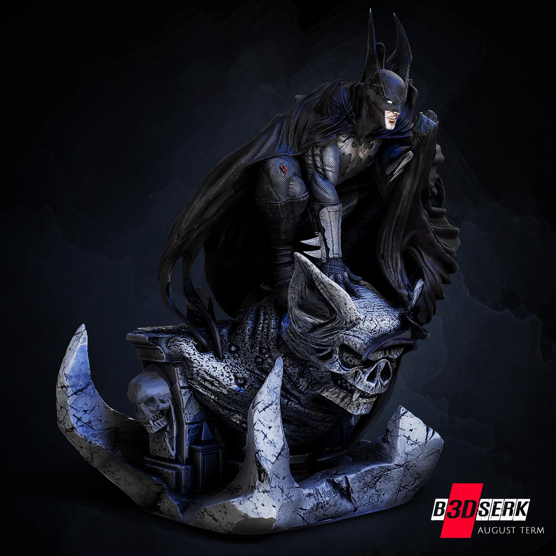 200820 B3DSERK - Batman promo 02.jpg Download free STL file Batman 3d sculpture tested and ready for printing by B3DSERK Studios • 3D printer object, b3dserk