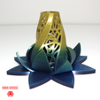 Download free STL file Radiant Blossom • Template to 3D print, robin3dverse