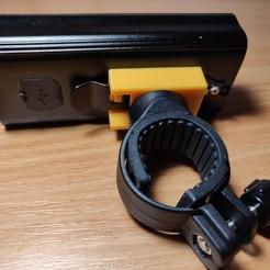 Bike_light_slide mount-assembled_complete (Large).jpg Download free STL file Bike light slide mount • 3D printable model, danmannock