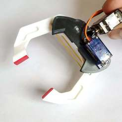 IMG_20190516_150719_1.jpg Download free STL file Robotic Gripper / Clamp. Two Degrees of freedom.  Servo controlled • 3D printer object, jjRobots