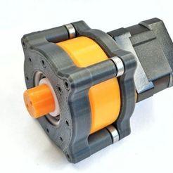NEMA17_planetary_gearbox_side_view.jpg Télécharger fichier STL gratuit Moteur pas à pas NEMA17 Réduction 1:5 de la boîte de vitesses planétaire • Modèle pour impression 3D, jjRobots