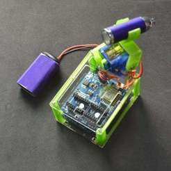 Download free STL file Remotely controlled torch robot • 3D printing object, jjRobots