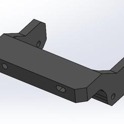 Front Bumper Adapter V8 - ISO Viewjpg.jpg Download STL file Redcat Gen7 Front Bumper Adapter • 3D print design, Guyaros