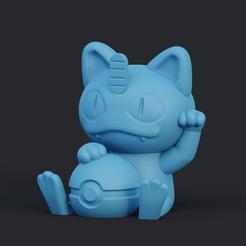 meowth.png Download free STL file Meowth-Luckycat | Pokémon • 3D print design, AxelX04