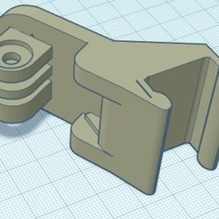 support rendu image synthese.jpg Download free STL file ENDER 5 cradle support for GoPro • Design to 3D print, cthel3