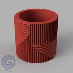 M. Rayada2A.PNG Download STL file STRIPED POT (FLOWER POT) Nº2 - POT HOLDER • 3D print object, Geo3D