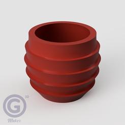 M. Calada3A.PNG Télécharger fichier STL POT DE FLEUR (FLOWER POT) Nº3 • Plan imprimable en 3D, Geo3D