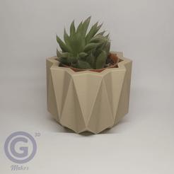 Maceta1A.png Download STL file Geometric Pot Nº1 - Pot holder • 3D printer template, Geo3D