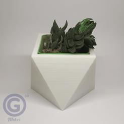 Maceta3B.png Download STL file Geometric Pot Nº3 - Pot holder • 3D printable template, Geo3D