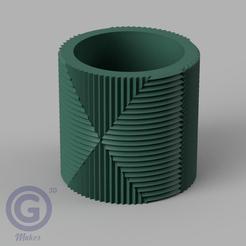 M. Rayada6A.PNG Download STL file STRIPED POT (FLOWER POT) Nº6 - POT HOLDER • Object to 3D print, Geo3D