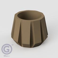 M. Calada4A.PNG Télécharger fichier STL POT DE CALADA (POT DE FLEURS) Nº4 • Objet imprimable en 3D, Geo3D