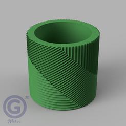 M. Rayada4A.PNG Download STL file STRIPED POT (FLOWER POT) Nº4 - POT HOLDER • 3D printing object, Geo3D