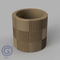 M. Rayada5A.PNG Download STL file STRIPED POT (FLOWER POT) Nº5 - POT HOLDER • 3D printable object, Geo3D
