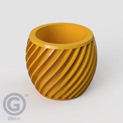 M. Calada1A.PNG Télécharger fichier STL POT DE FLEUR (FLOWER POT) Nº1 • Plan pour impression 3D, Geo3D
