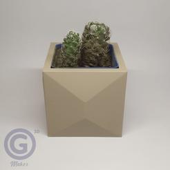 Maceta4A.png Download STL file Geometric Pot Nº4 - Pot holder • Template to 3D print, Geo3D