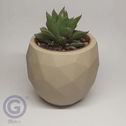 Maceta6A.png Download STL file Geometric Pot Nº6 - Pot holder • 3D printer object, Geo3D