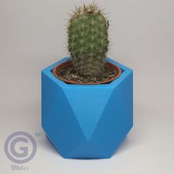 Maceta2A.png Download STL file Geometric Pot Nº2 - Pot holder • 3D printing template, Geo3D