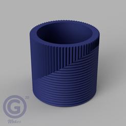 M. Rayada1A.PNG Download STL file STRIPED POT (FLOWER POT) Nº1 - POT HOLDER • Template to 3D print, Geo3D