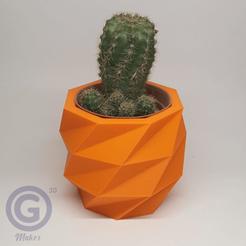 Maceta5A.png Download STL file Geometric Pot Nº5 - Pot holder • 3D print object, Geo3D