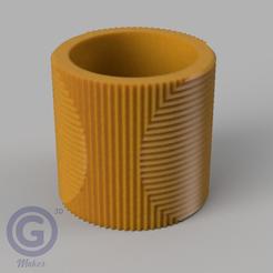M. Rayada3A.PNG Download STL file STRIPED POT (FLOWER POT) Nº3 - POT HOLDER • 3D printer object, Geo3D