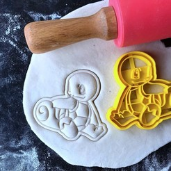 squir.jpg Download STL file Pokemon - Squirtle - Cookie Cutter • Design to 3D print, proyectodesastre
