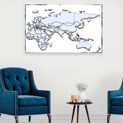 1.jpg Télécharger fichier STL Carte du monde pour les voyageurs • Plan imprimable en 3D, vavokado2