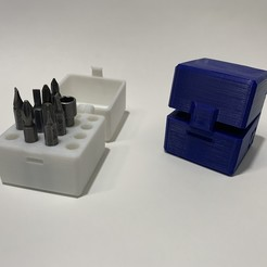 IMG_4027.jpg Download free STL file Screwdriver bit Box Print in Place • Design to 3D print, luchocarreno