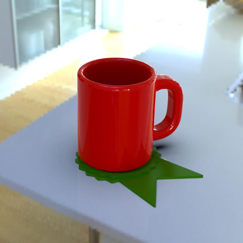 untitled.159.png Télécharger fichier STL (Pour les dons) Dessous de verre de remerciement • Plan à imprimer en 3D, 3D_GUM