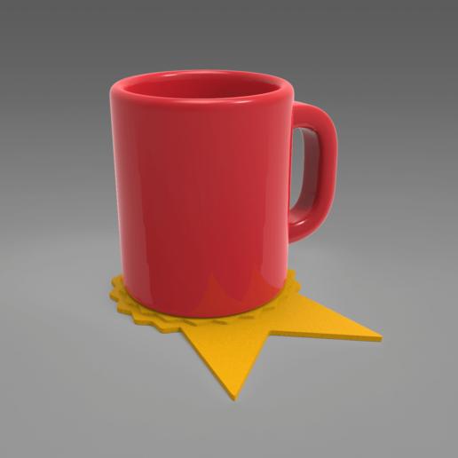 untitled.164.png Télécharger fichier STL (Pour les dons) Dessous de verre de remerciement • Plan à imprimer en 3D, 3D_GUM